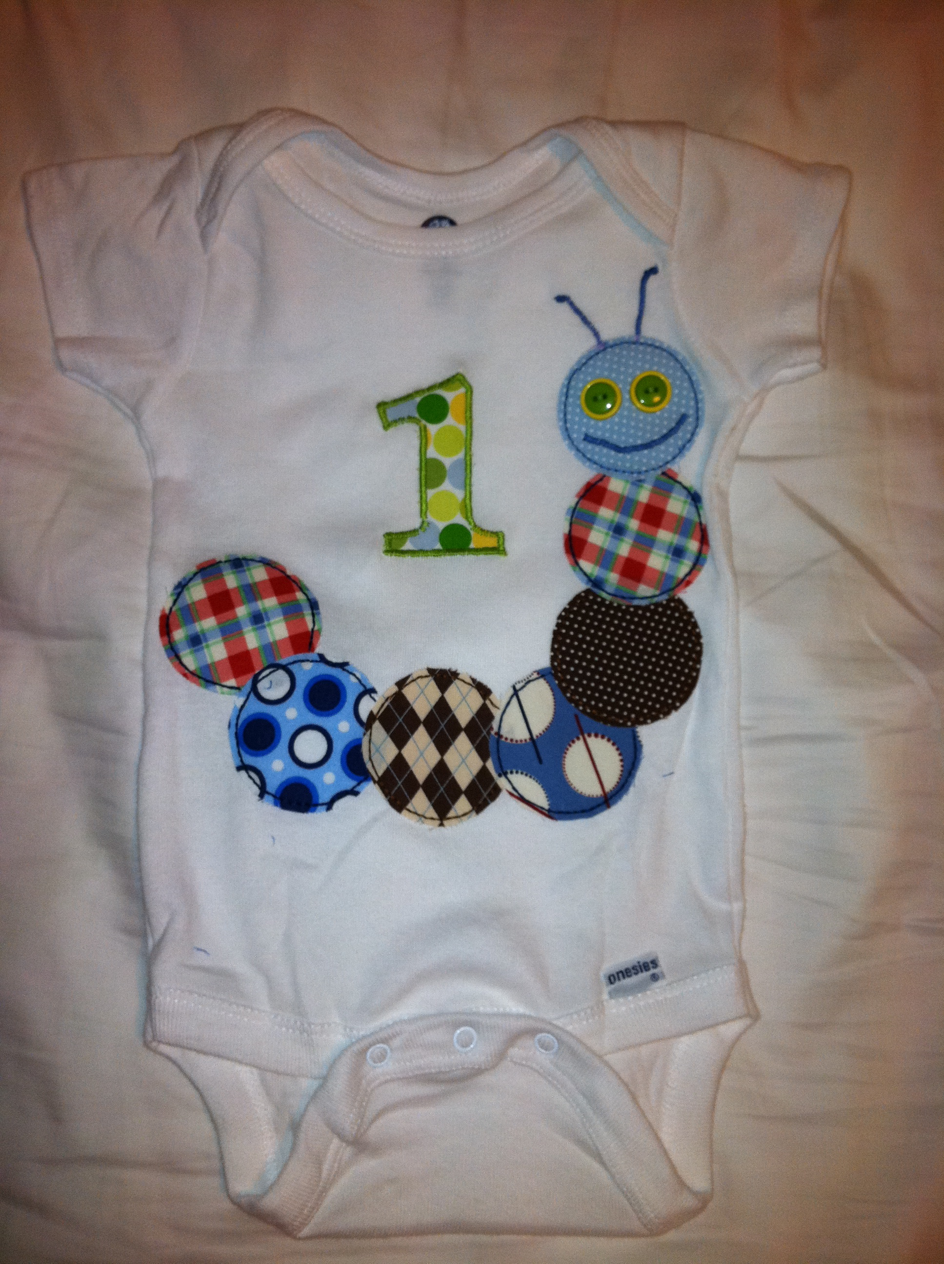 One Year Old Caterpillar Birthday Shirt