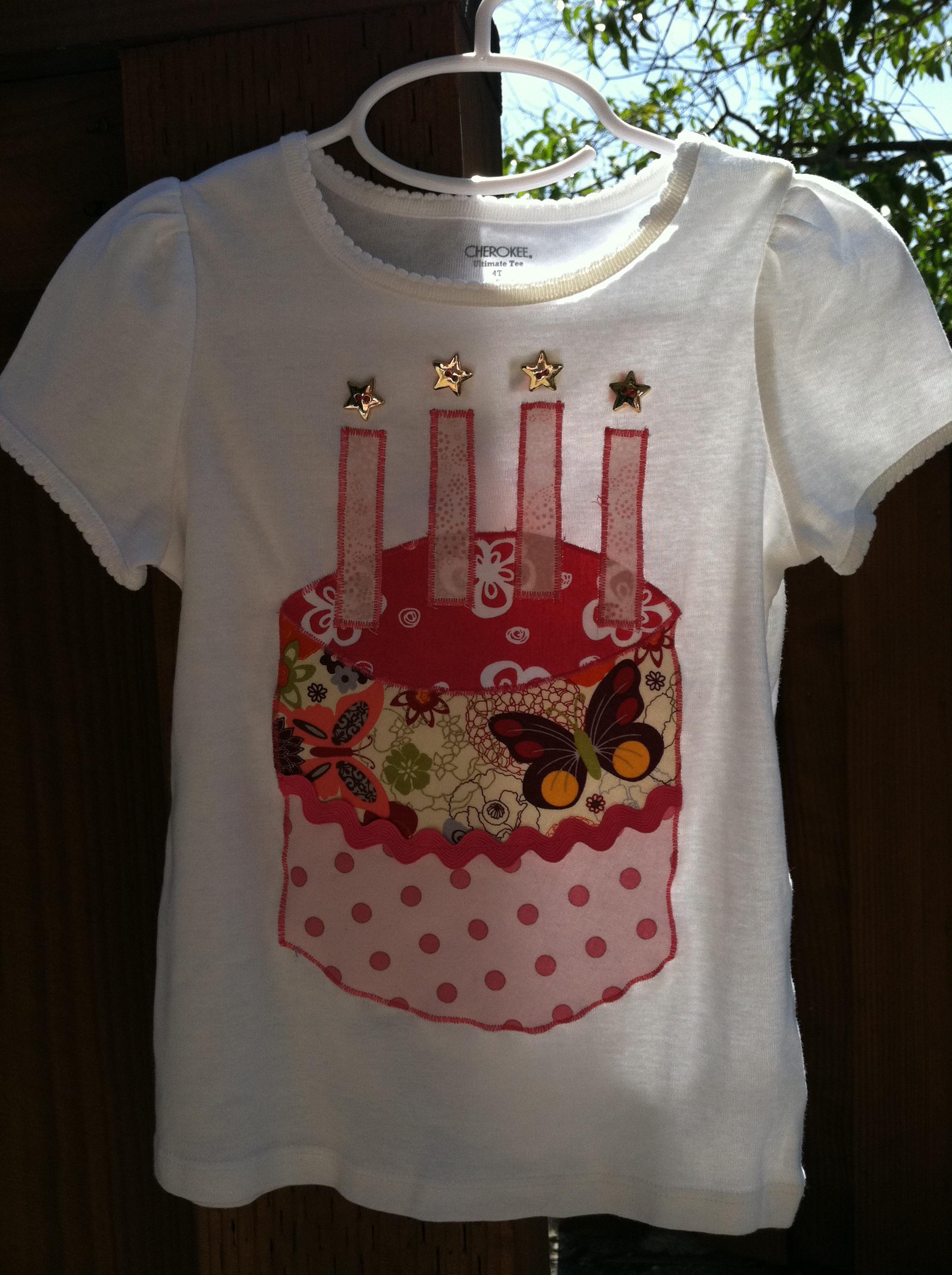 Girl Four Year Old Birthday Shirt