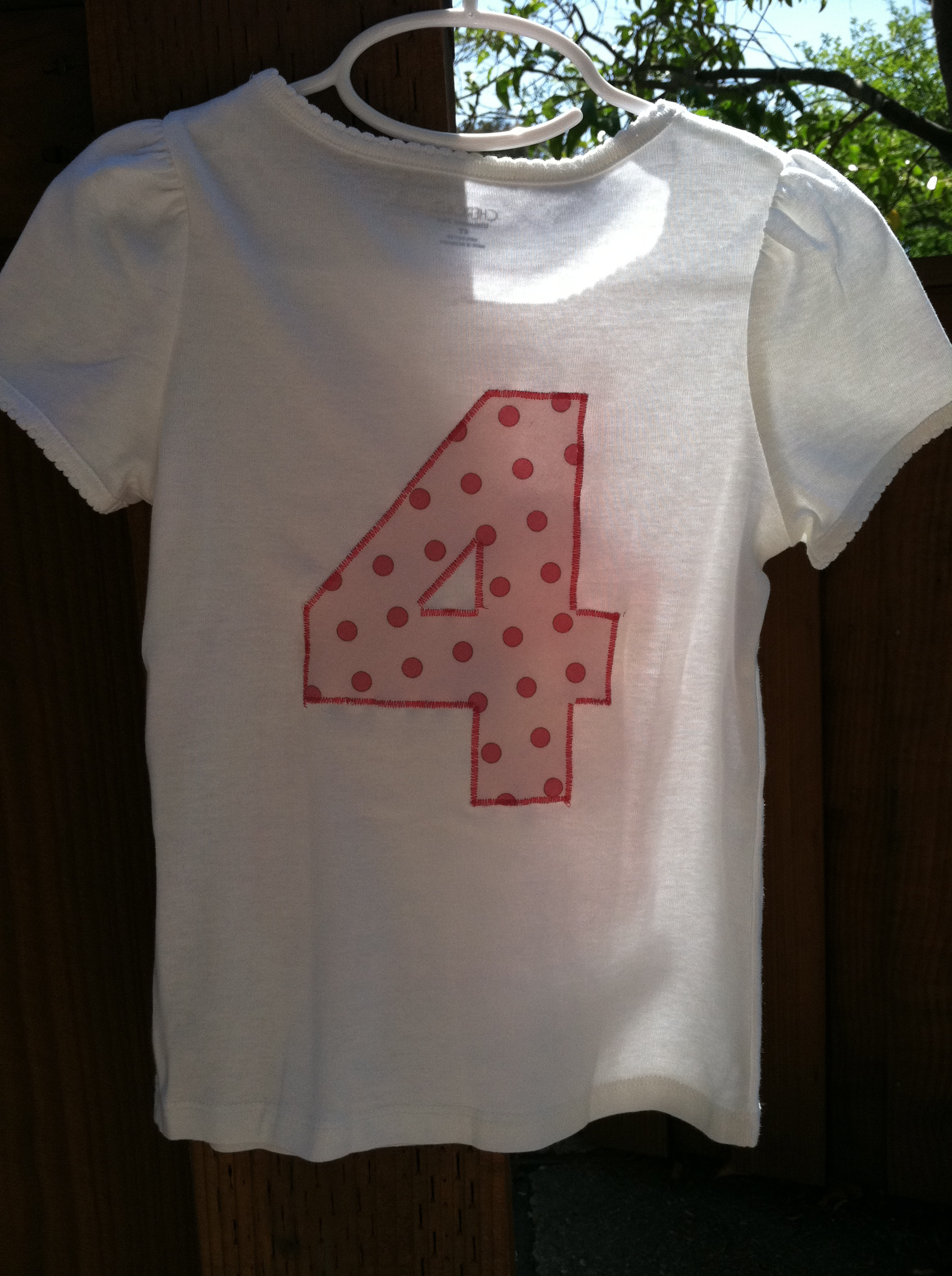 Girl Four Year Old Birthday Shirt