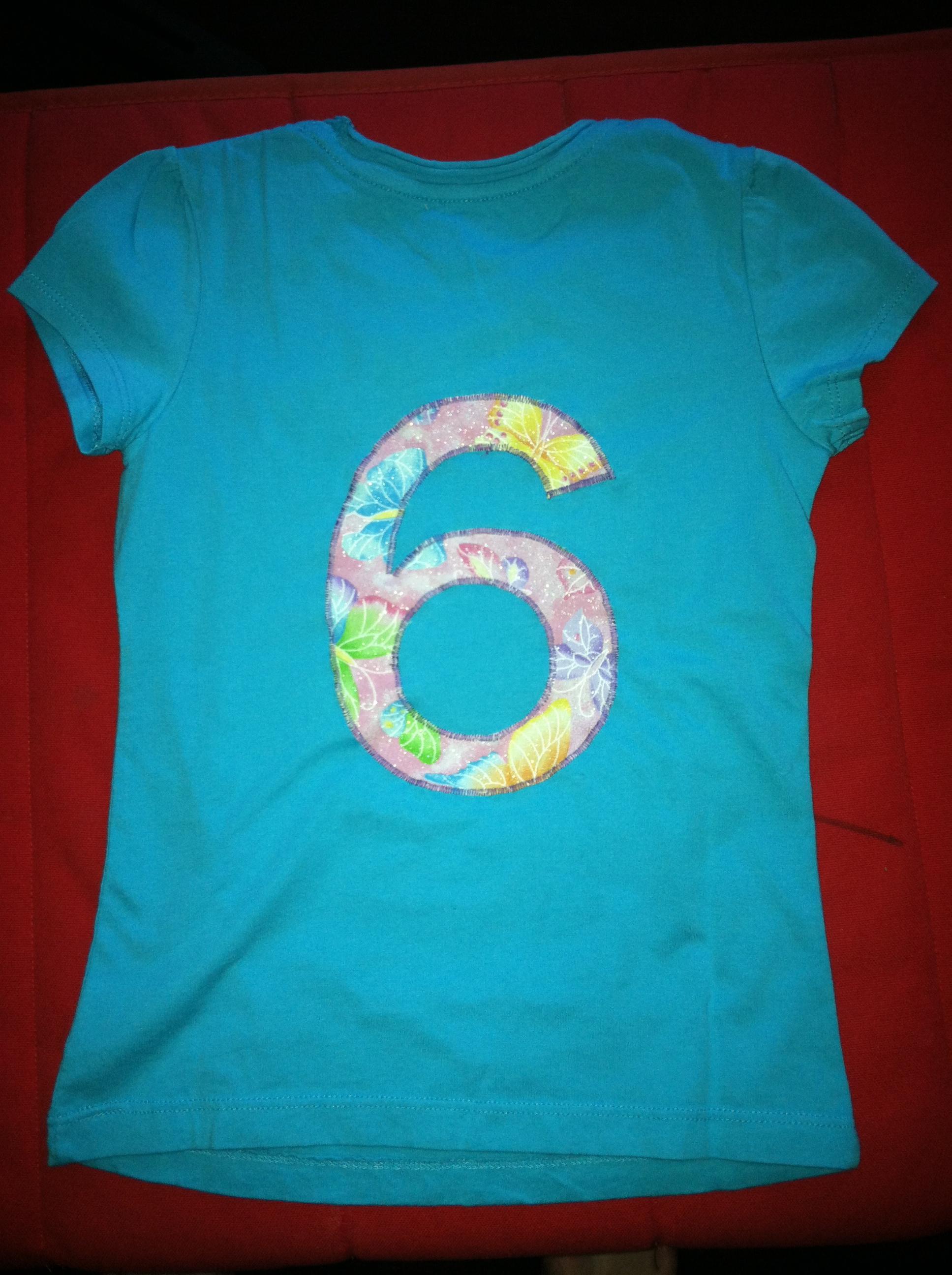 6 Year Old Birthday Shirt Birthdayshirt Girl Front Back