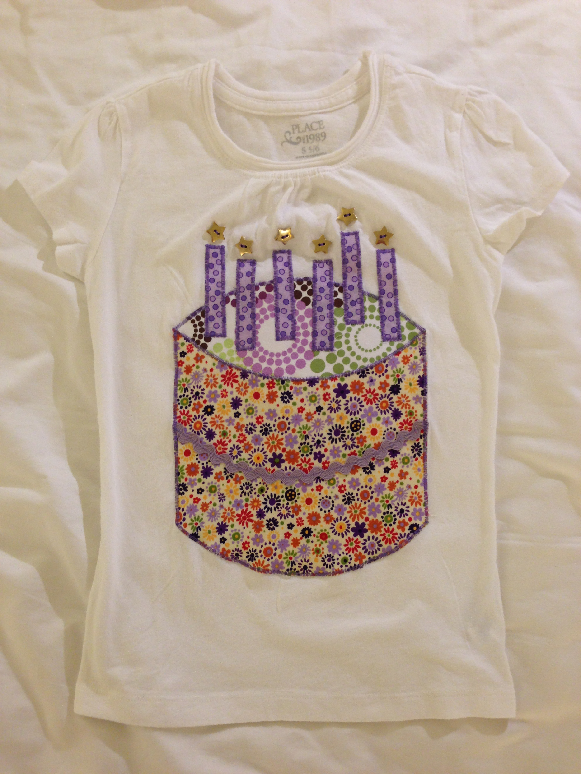6 Year Old Purple Birthday Shirt